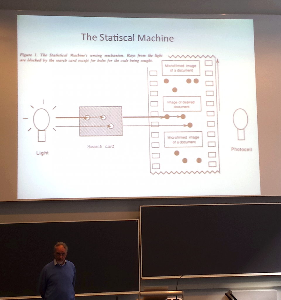 Information Retrieval in the 1920s - Keith van Rijsbergen presenting Goldberg's Statistical Machine