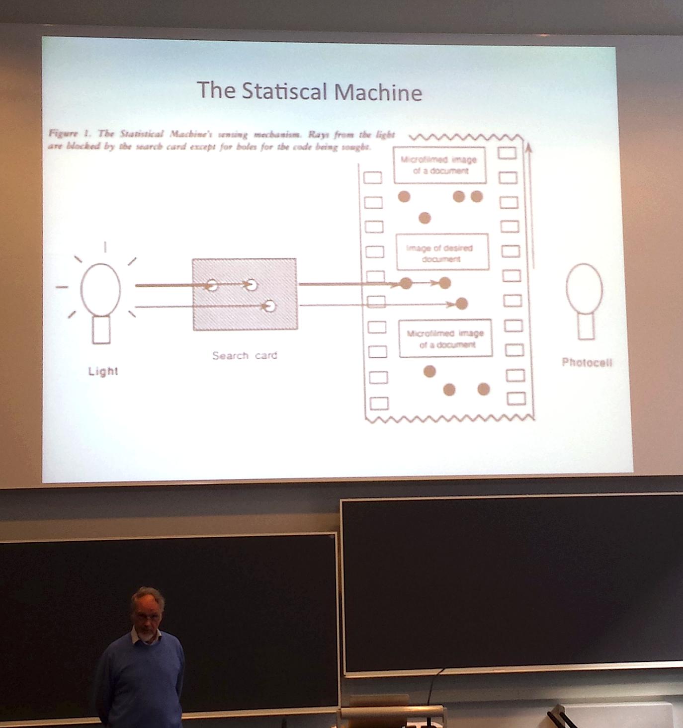 Information Retrieval in the 1920s - Keith van Rijsbergen presenting Goldberg's Statistical Machine